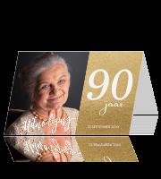 Onwijs Uitnodiging 90 jaar   Luckz   Originele verjaardag uitnodigingen KQ-44