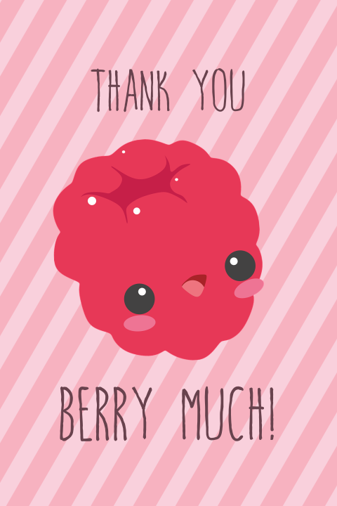 Bedanktkaart thank you berry much