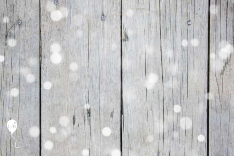 Business kerstkaart hout label
