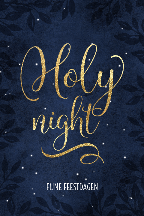 Holy night kerstkaart sterrenhemel
