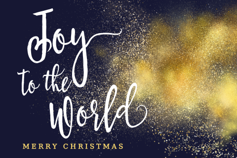 Joy to the World christelijke kerstkaart
