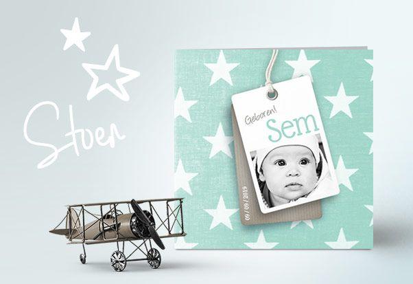 Geboortekaartjes voor een jongen