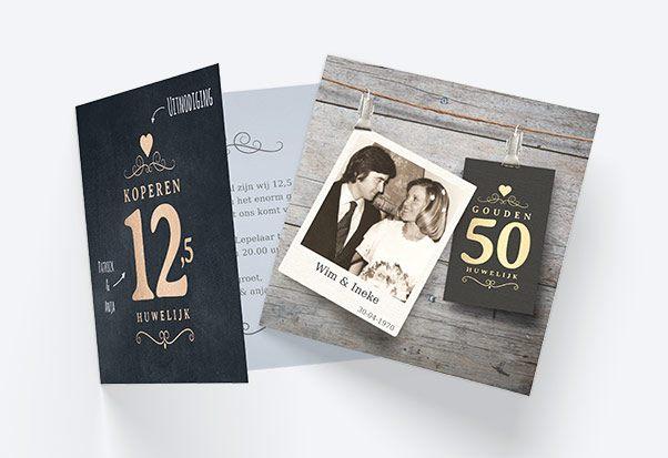 Huwelijksjubileum Uitnodigingen