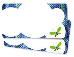 Adressticker Vlinder