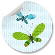 Sluitzegel Vlinder Blauw