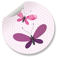 Sluitzegel Vlinder Roze
