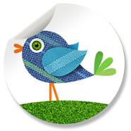 Sluitzegel Vogel Blauw