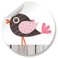 Sluitzegel Vogel Roze