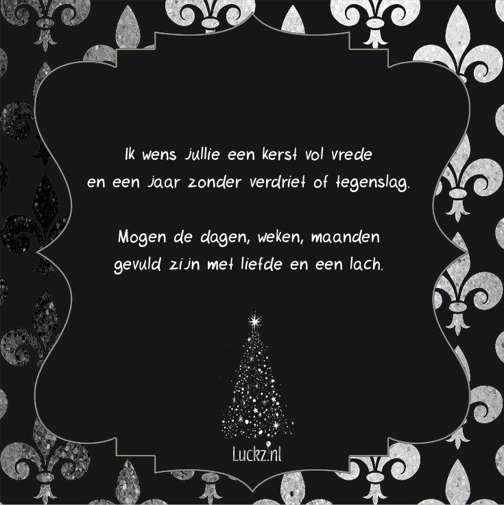kerst vrede jaar liefde tekst
