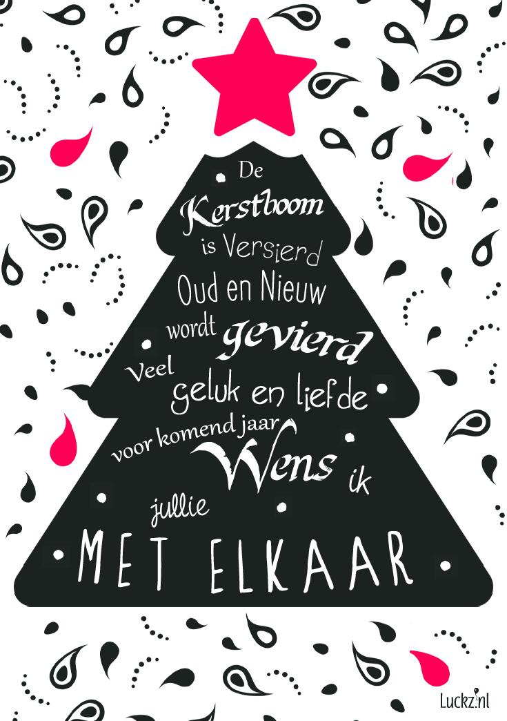 kerstboom kerst tekst oud en nieuw jaar