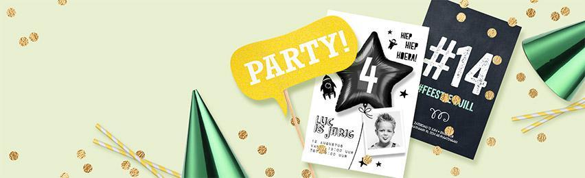 Uitnodigingen Kinderfeestje