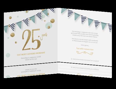 Magnifiek Jubileum 25 jaar uitnodiging feest vlaggen @NE15