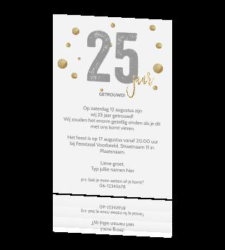 Uitnodigingskaart 25 Jaar Huwelijk