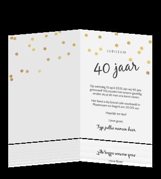 Tekst Voor Uitnodiging Verjaardag 40 Jaar
