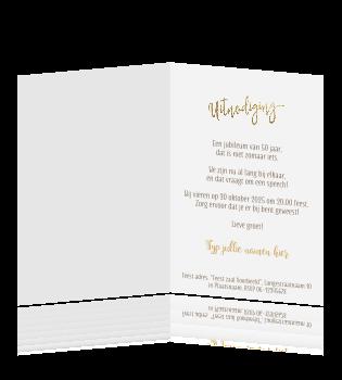 Grappige Huwelijksjubileum Uitnodiging Typografie Zwart