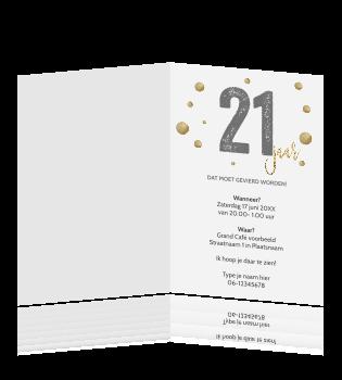 Stijlvolle 21 Jaar Verjaardag Uitnodiging Typografie