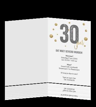 Verjaardag 30 Jaar Teksten.Luxe Verjaardag Uitnodiging Voor 30 Jaar Typografie