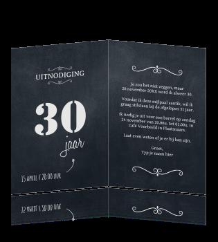 Verjaardag 30 Jaar Teksten.Verjaardag Uitnodiging 30 Jaar Label