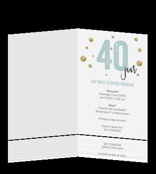 40 Jaar Verjaardag Uitnodiging