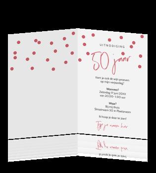 Uitnodiging Voor 50 Jaar