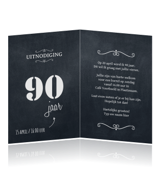 Verrassend Verjaardag uitnodiging 90 jaar label MI-05