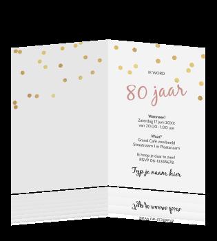 Uitnodiging Verjaardag 80 Jaar