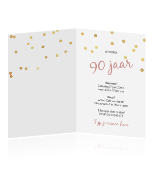 Betere Uitnodiging verjaardag 90 jaar WW-18
