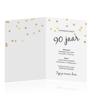 Verjaardag Uitnodiging 90 Jaar