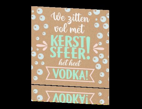 kerstkaart grappig kerstsfeer vodka