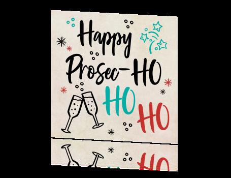 kerstkaart Happy Prosec-HO HO HO! grappig
