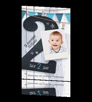 Uitnodiging 2 jaar jongen verjaardag for Poppenhuis kind 2 jaar