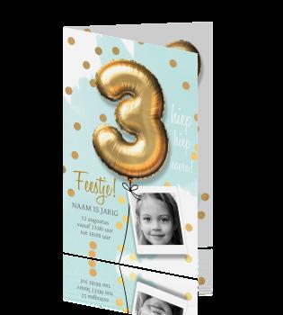 Uitnodiging Verjaardag 3 Jaar Meisje