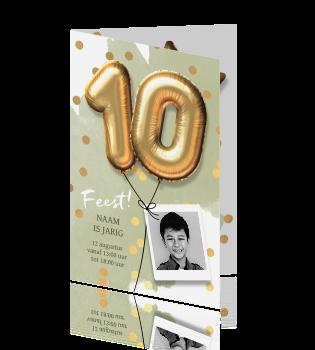 Verjaardag Uitnodiging Kinderfeestje Jongen 10 Jaar