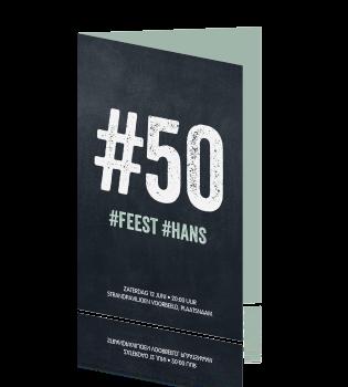 Hippe Hashtag Uitnodiging 50 Jaar Verjaardag