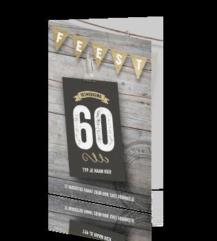 Uitgelezene 60 jaar verjaardag uitnodiging feest XW-14