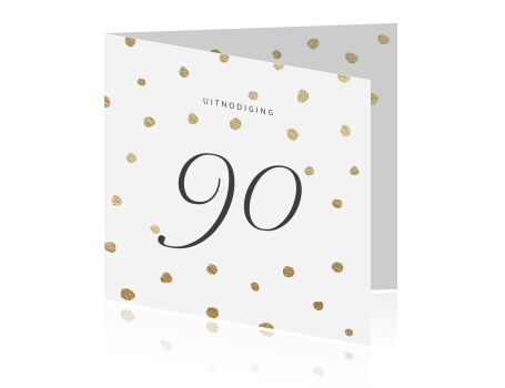 Betere Luxe uitnodiging verjaardag 90 jaar UD-67