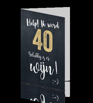 Top Grappige verjaardag uitnodiging 40 jaar @PF42