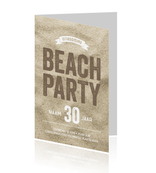 Hippe beach party uitnodiging