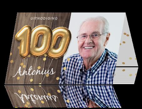 New Originele uitnodiging verjaardag 100 jaar foto &DA88